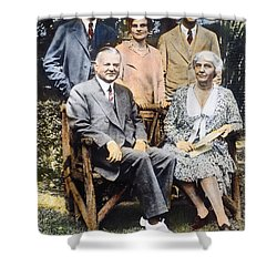 H. Hoover And Family Shower Curtain by Granger