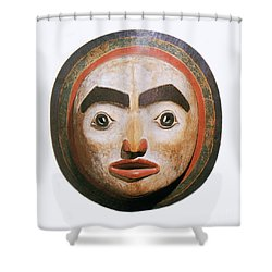 Haida Moon Mask Shower Curtain by Photo Researchers