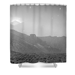 Hail Storm In The Mountains Shower Curtain by Guido Montanes Castillo