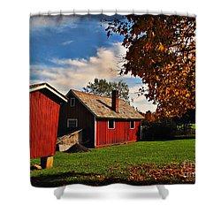 Hale Farm In Autumn Shower Curtain by Joan  Minchak
