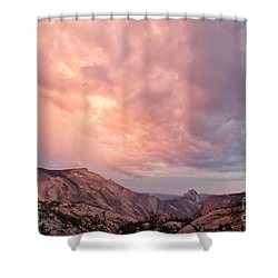 Half Dome From Olmsted Point Shower Curtain