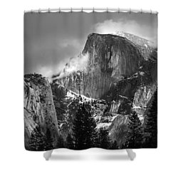 Half Dome Shower Curtain by Jeff Grabert