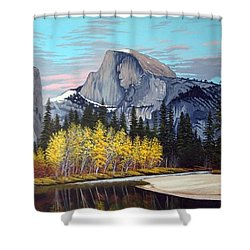 Half-dome Shower Curtain by Rick Gallant