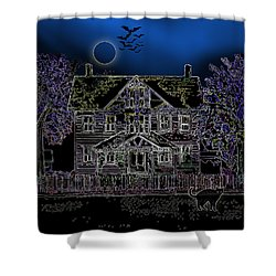 Halloween Haunt Shower Curtain by Clara Sue Beym