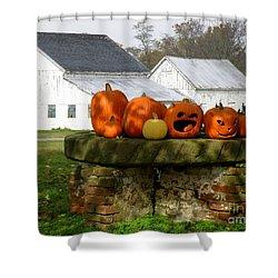 Halloween Scene Shower Curtain by Lainie Wrightson