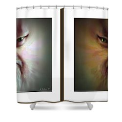 Halloween Self Portrait - Gently Cross Your Eyes And Focus On The Middle Image Shower Curtain by Brian Wallace