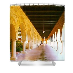Halls Of Learning - Stanford University Shower Curtain by Anna Porter