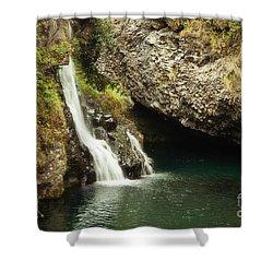 Hana Waterfall Shower Curtain by Scott Pellegrin