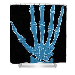 Hand And Wrist Bones Shower Curtain by Science Source