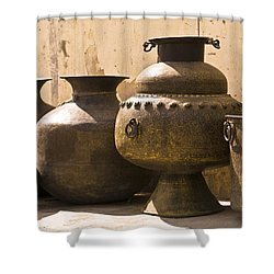 Hand Crafted Jugs, Jaipur, India Shower Curtain by Keith Levit