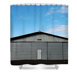 Shower Curtain featuring the photograph Hangar 2 The Building by Kathleen Grace