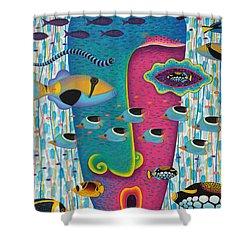 Happiness 3 Shower Curtain by Opas Chotiphantawanon