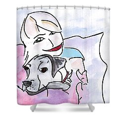 Happiness Shower Curtain by Elizabeth Briggs