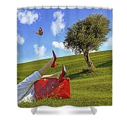 Happiness Of Summer Shower Curtain by Joana Kruse