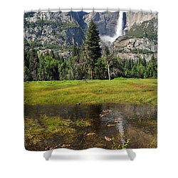 Happy Campers Shower Curtain by Lynn Bauer