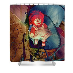 Happy Dolly Shower Curtain by Susanne Van Hulst