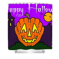 Happy Halloween 2 Shower Curtain by George Pedro