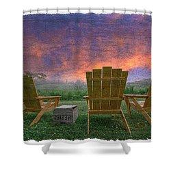 Happy Hour Shower Curtain by Debra and Dave Vanderlaan