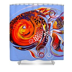 Happy Rainbow Fish Shower Curtain