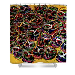 Happy Smiling Faces Shower Curtain by Karen Elzinga