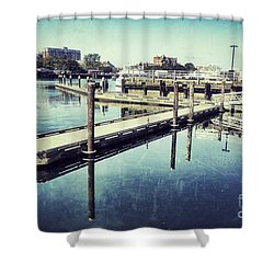 Harbor Time Shower Curtain