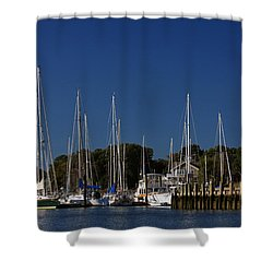 Harbor View Shower Curtain by Karol Livote