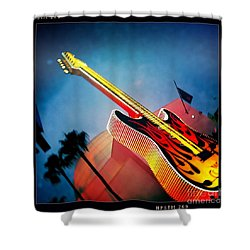 Shower Curtain featuring the photograph Hard Rock Guitar by Nina Prommer