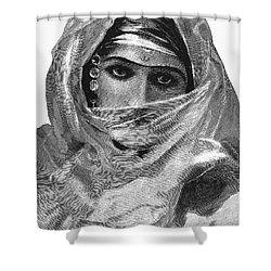 Harem Woman, 19th Century Shower Curtain by Granger