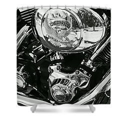Harley Davidson Bike - Chrome Parts 02 Shower Curtain by Aimelle