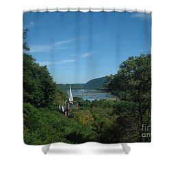 Harper's Ferry Long View Shower Curtain by Mark Robbins