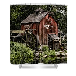 Harpers Mill Shower Curtain by Heather Applegate