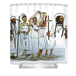 Harris And His Followers Shower Curtain by Emmanuel Baliyanga