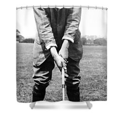 Shower Curtain featuring the photograph Harry Vardon Displays His Overlap Grip by International  Images