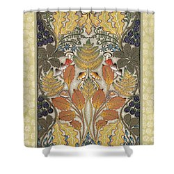 Harvest Hedgerow Shower Curtain by Isobel  Brook Haslam