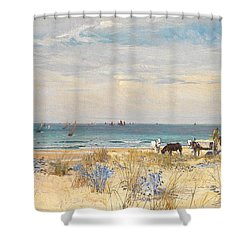 Harvesting The Land And The Sea Shower Curtain by William Lionel Wyllie