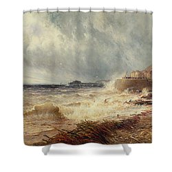 Hastings Shower Curtain by Gustave de Breanski