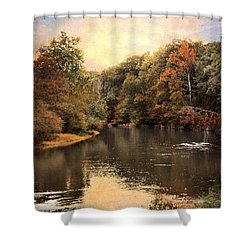 Hatchie River Shower Curtain by Jai Johnson