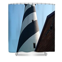 Hatteras Light Shower Curtain by Tony Cooper