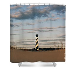 Hatteras Lighthouse And The Smiling Dune Shower Curtain
