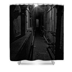 Haunted 1946 Battle Of Alcatraz Death Chamber Shower Curtain by Daniel Hagerman