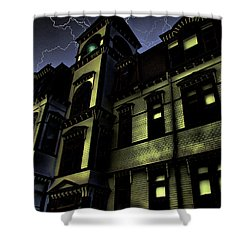 Haunted House Shower Curtain by Mark Sellers