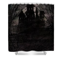 Haunted Shower Curtain by Rachel Christine Nowicki