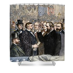 Hayes Inauguration Shower Curtain by Granger