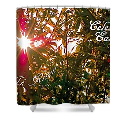 He Is Risen Easter Greeting Shower Curtain by DigiArt Diaries by Vicky B Fuller