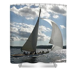 Heading Home Shower Curtain by Lainie Wrightson