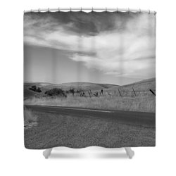 Shower Curtain featuring the photograph Heading Inland by Kathleen Grace