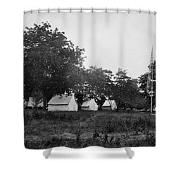 Headquarters - Army Of The Potomac - Fairfax Courthouse Virginia 1863 Shower Curtain by International  Images