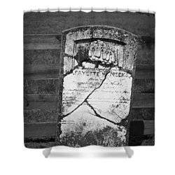 Headstone Of Lafayette Meeks Shower Curtain by Teresa Mucha