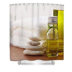 Health Spa Shower Curtain by Atiketta Sangasaeng