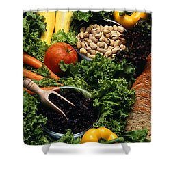 Healthy Foods Shower Curtain by Photo Researchers
